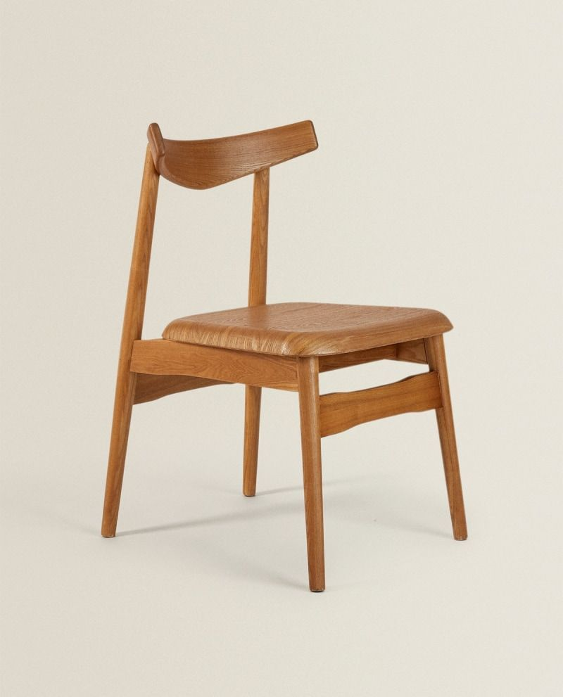 Zara Home S Latest Drop For Spring Shines A Spotlight On Luxe Looking Furniture In 2020 Wooden Chair Chair Furniture Chair