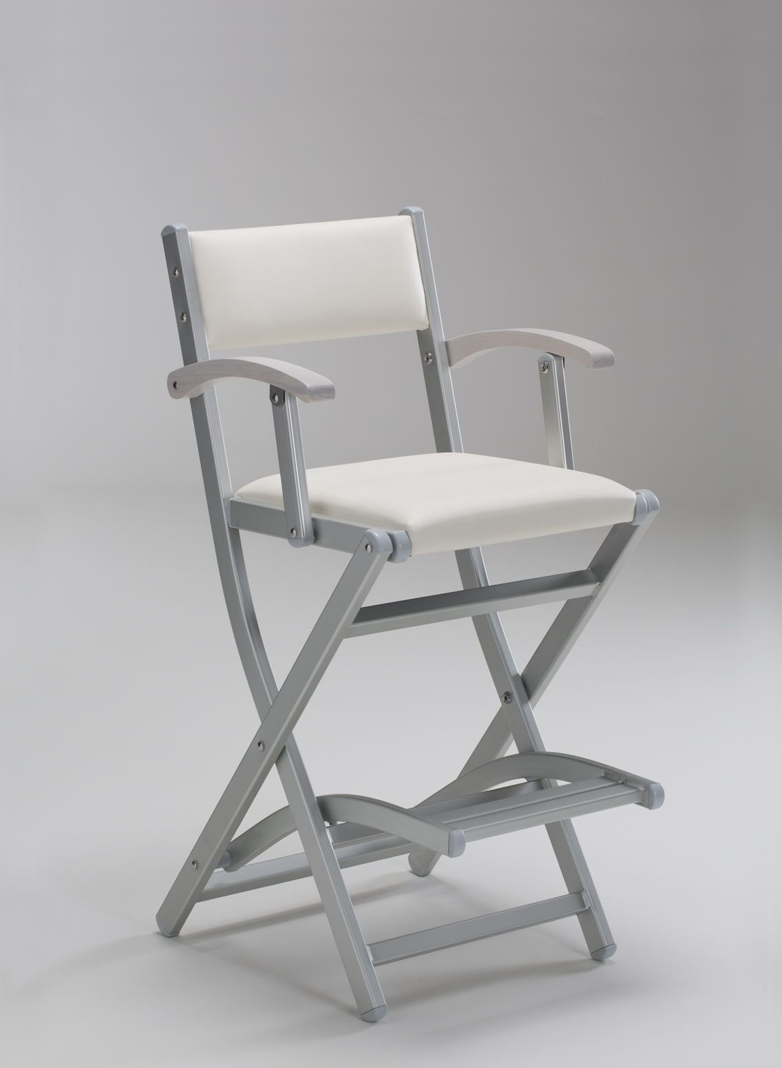 foldable make up chair in leatherette | footrest, armchairs and