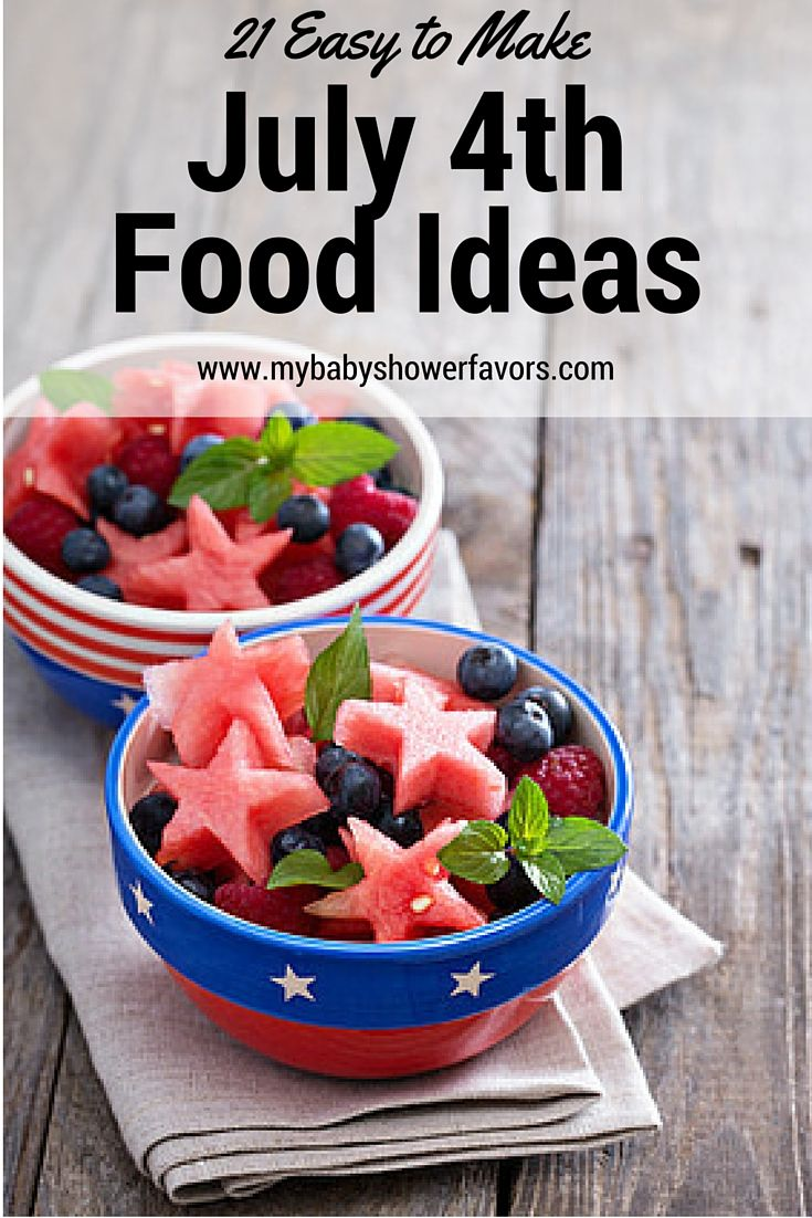 July 4th is just around the corner and I was looking on Pinterest and Instagram for food ideas. Here are some of the most amazingly creative but easy to make July 4th recipes that you can use for your