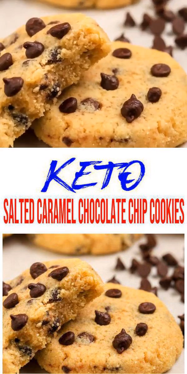BEST Keto Cookies! Low Carb Keto Salted Caramel Chocolate Chip Cookie Idea – Quick & Easy Ketogenic Diet Recipe – Completely Keto Friendly