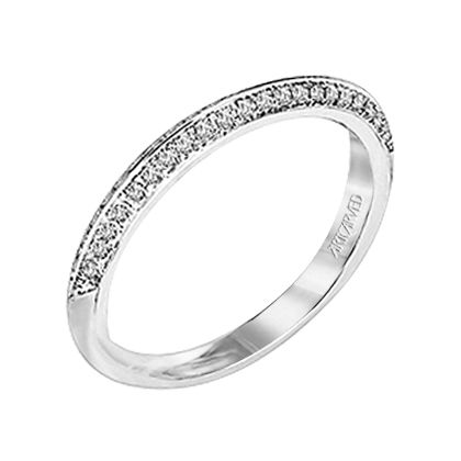 Belle A Diamond Enhanced Wedding Band With Double Row Pave To Match Engagement Ring 31