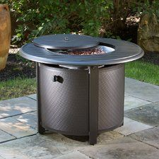Bay Ridge Cast Aluminum Gas Fire Pit Table Wayfair Firepits - Cast aluminum gas fire pit table