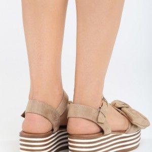 9df1dc20c245 Letné sandále na platforme béžovej farby (2)
