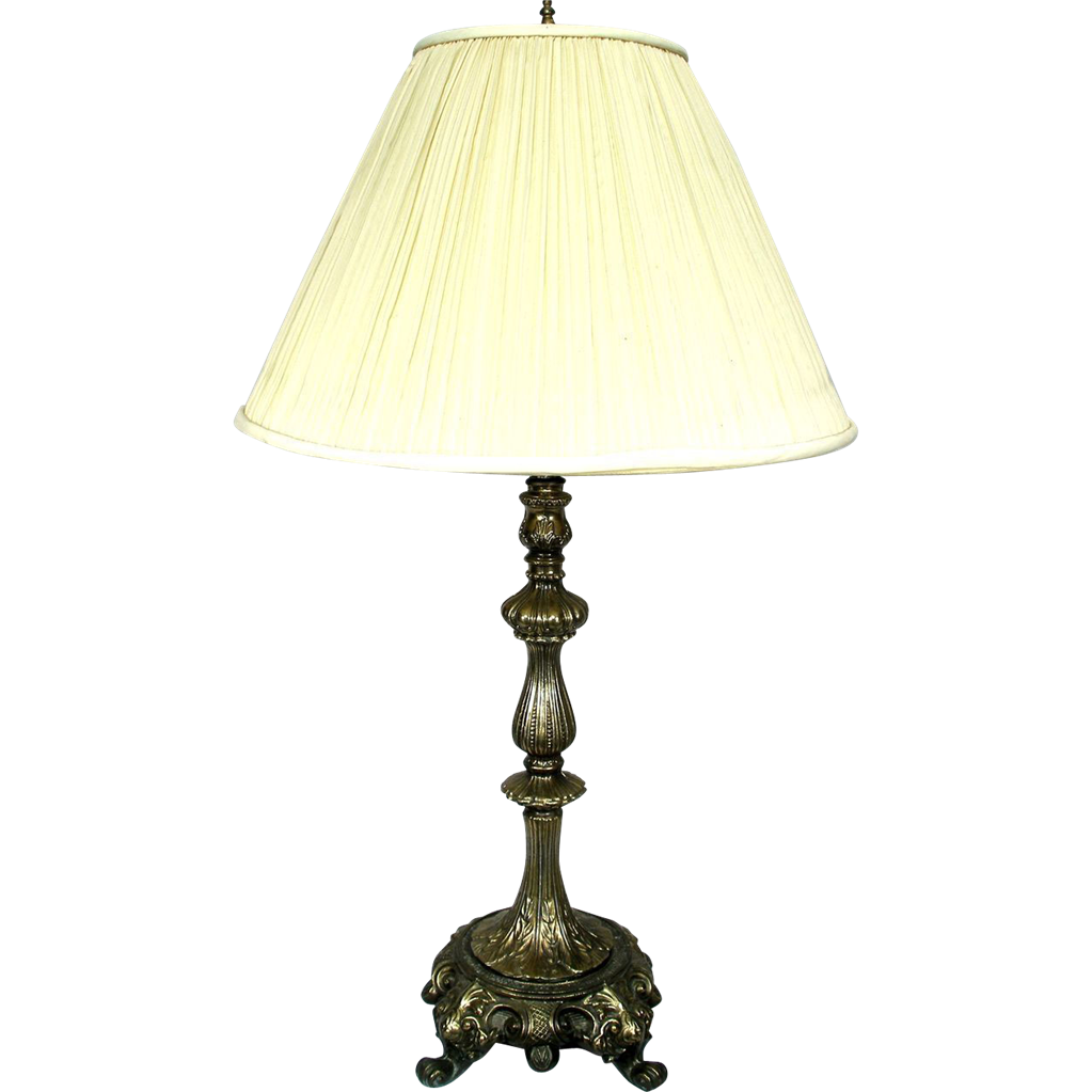 Table lamp vintage style - Vintage Ornate Victorian French Rococo Style Bronze Brass Table Lamp 3way Light