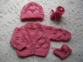 1879349de Knitting Pattern No.15 Premature Lacy Cardigan
