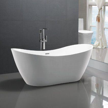 Freistehende Badewanne Bremen 180x80cm Sanitäracryl Weiß