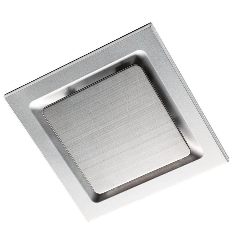 Comfort Maker Square Exhaust Fan 200mm Silver SKU 00164311
