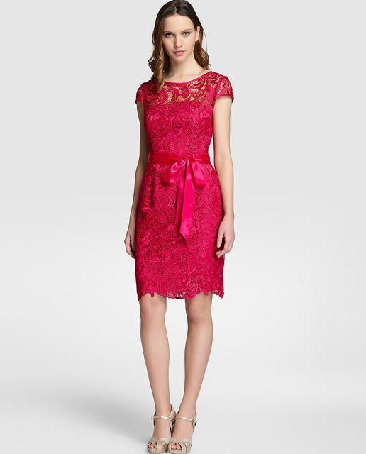 973f5227c Vestido de crochet de mujer Adrianna Papell en color rosa