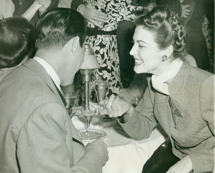 Ava Gardner Chats With Artie Shaw At The Mocambo nightclub