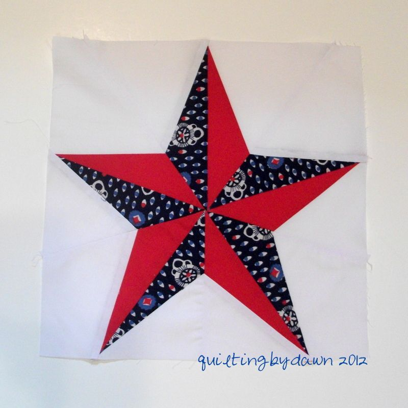 red white blue mexican star quilt pattern | point star pattern ... : paper pieced star quilt patterns - Adamdwight.com