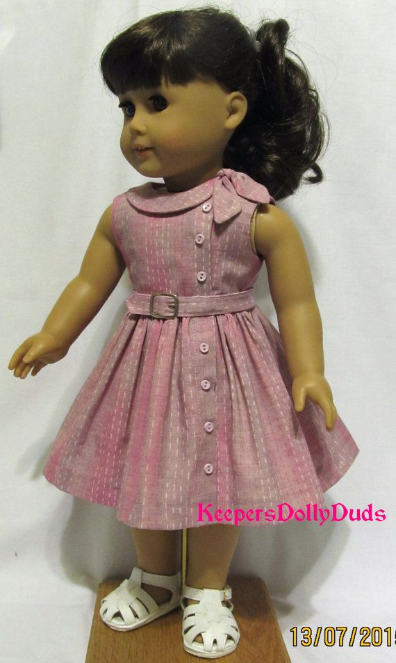 1950's Side Tie Collar Dress~ Clothes Made to fit American Girl Doll, A KeepersDollyDuds Original