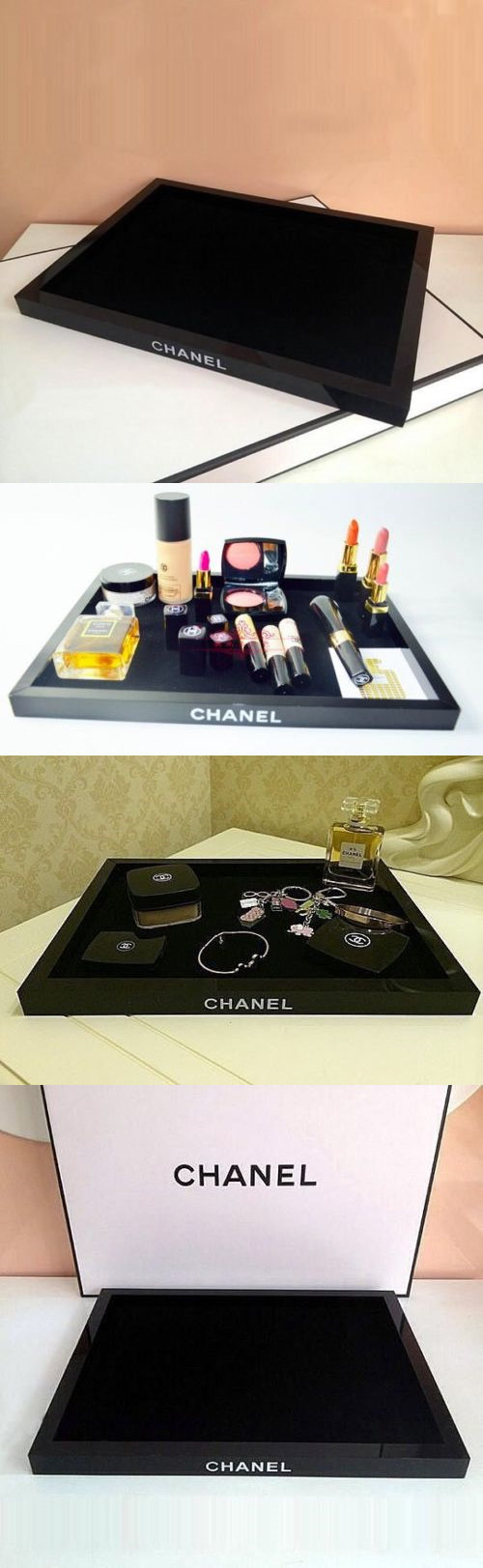 Other Makeup Tools and Accs: Chanel Perfume Holder Lip Stick Face Cosmetic Vanity Organizer Tray Vip Gift BUY IT NOW ONLY: $75.99