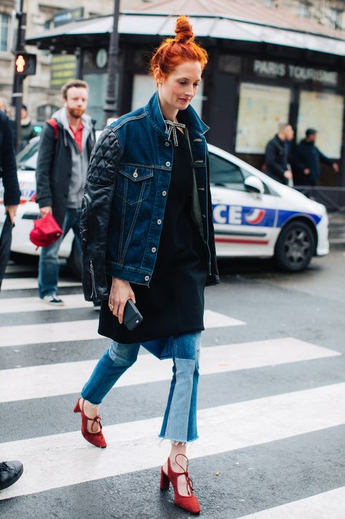 Street style at Paris Fashion Week Fall/Winter 2017-2018 ...