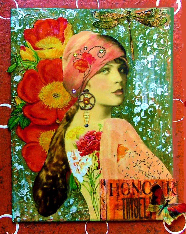 Vintage Gypsy Art | ... vintage photo of Ziegfeld Follies beauty in 1900s in bohemian/gypsy