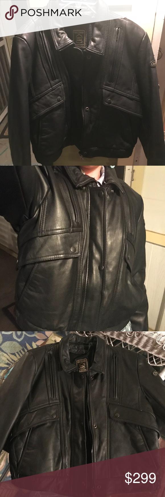 Hein Gericke black leather jacket, like new 38 Worn only