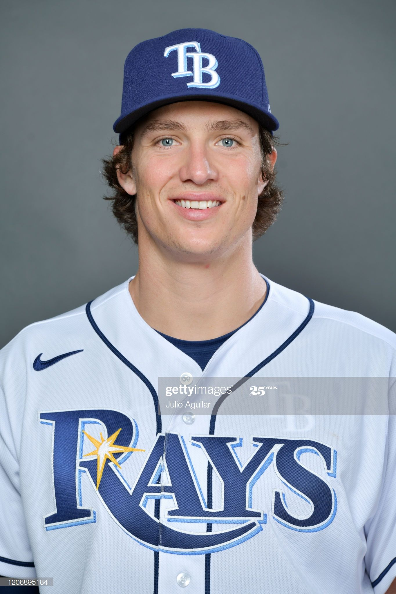 Tyler Glasnow Of The Tampa Bay Rays Poses For Picture Day On February In 2020 Tampa Bay Rays Tampa Bay Tampa
