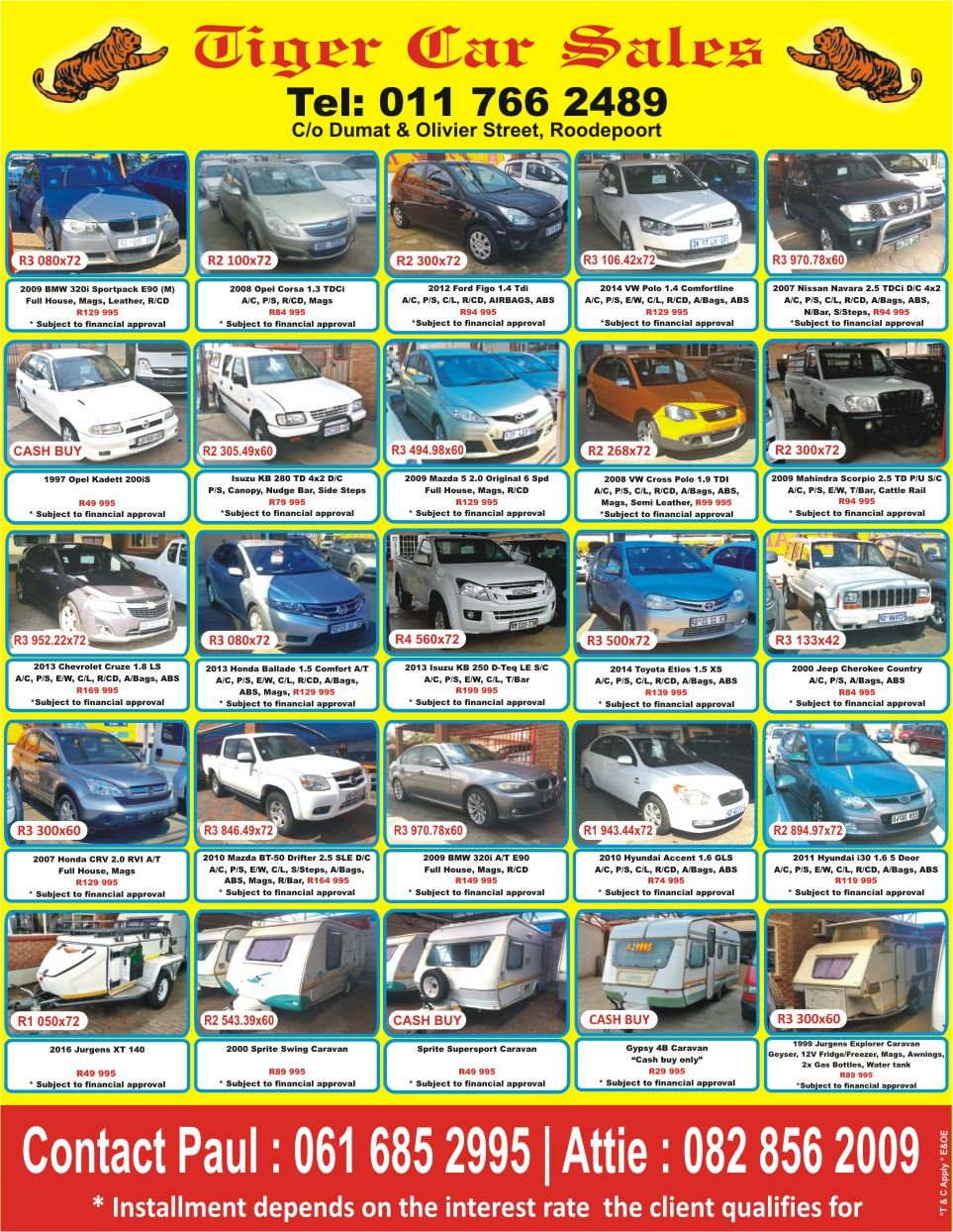 Looking for a vehicle Dont miss out at Tiger Car Sales ...