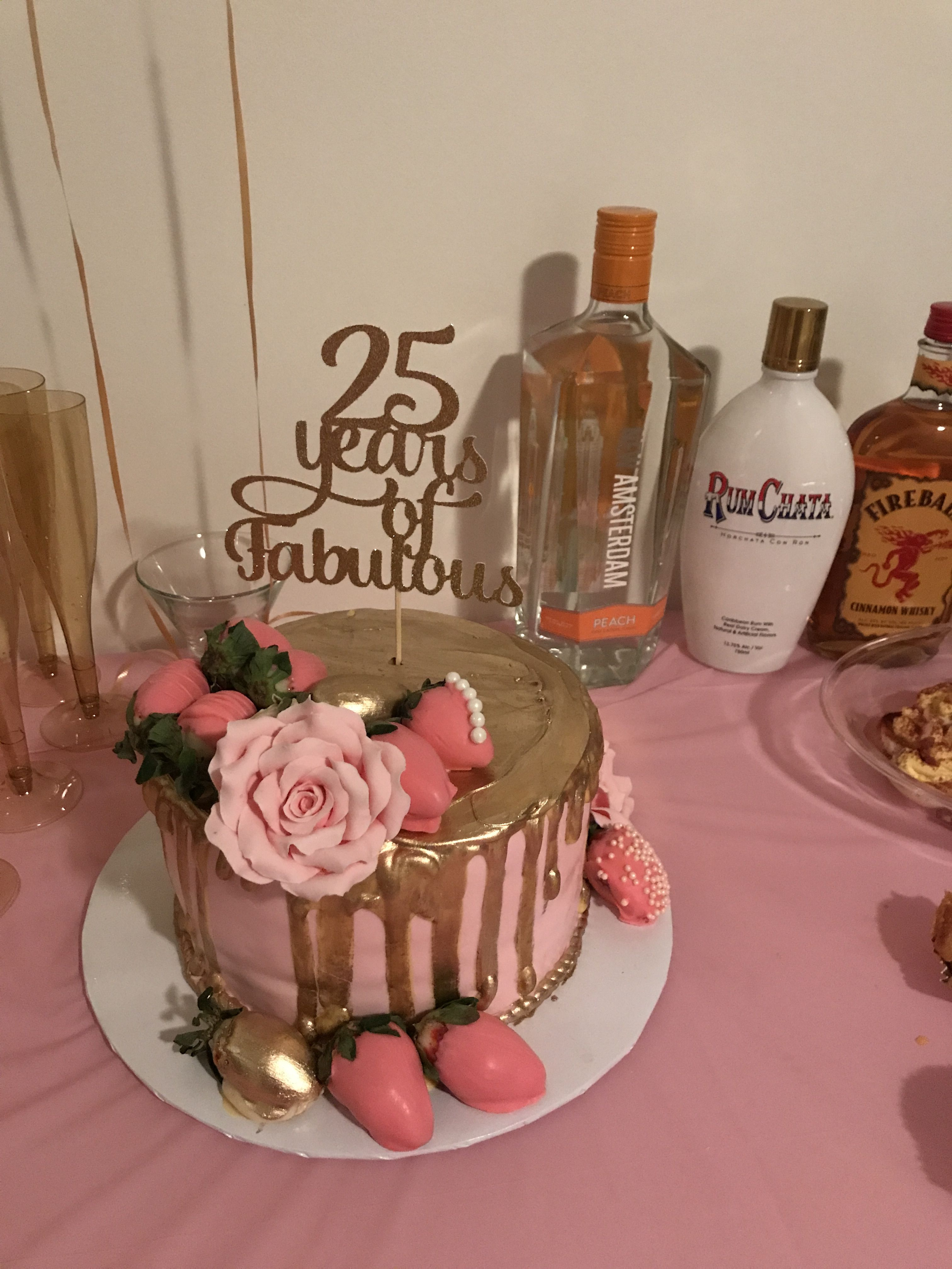 Pin By Alisha Black On My Bday Dinner 25th Birthday Cakes 29th