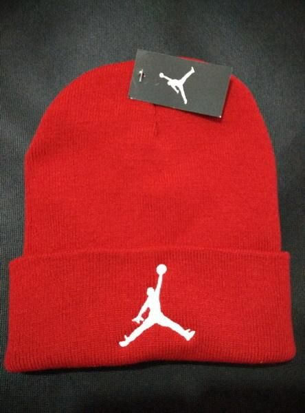 Mens   Womens Air Jordan USA Top Selling White Classic Jumpman Embroidery  Cuffed Knit Beanie Cap - Red f12643ff67b8