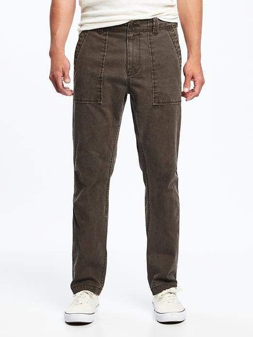 5ed41197bf Old Navy Straight Built-In Flex Canvas Utility Pants for Men ...