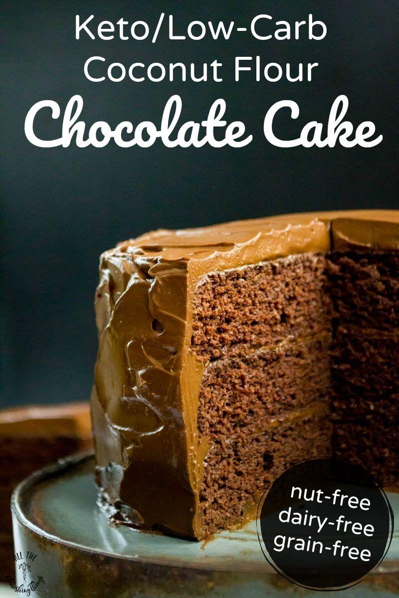 Keto Coconut Flour Chocolate Cake with Chocolate Avocado