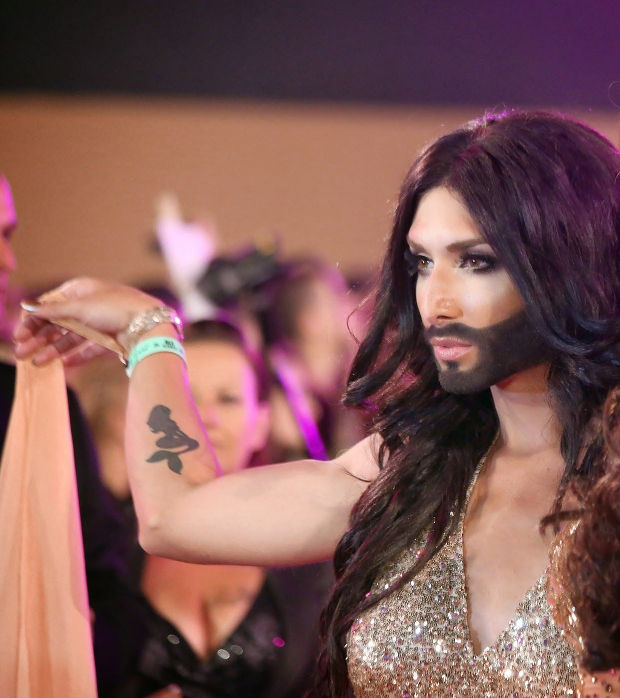 Conchita wurst and dana international in eurovision first star -  Eurovision 2014 Austria Conchita Wurst Aka Tom Neuwirth