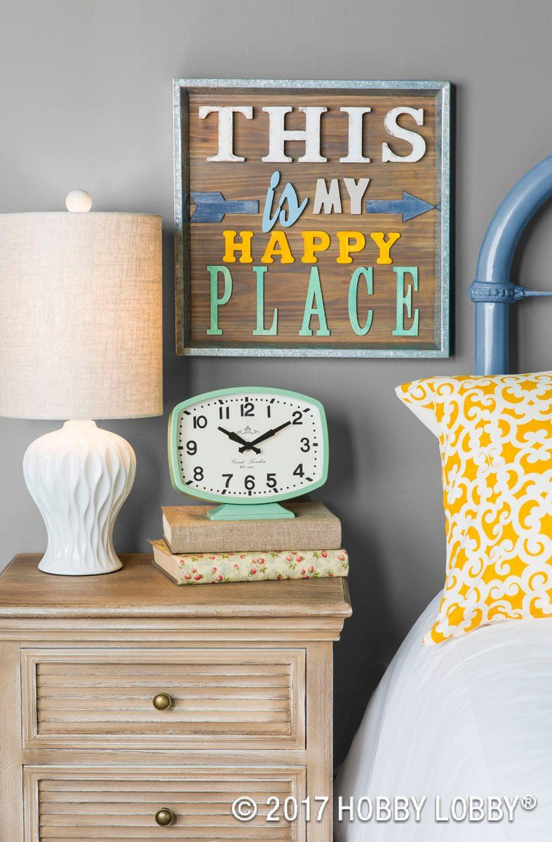 Master bedroom yellow walls  Create inspirational wall decor with wooden letters paint and a