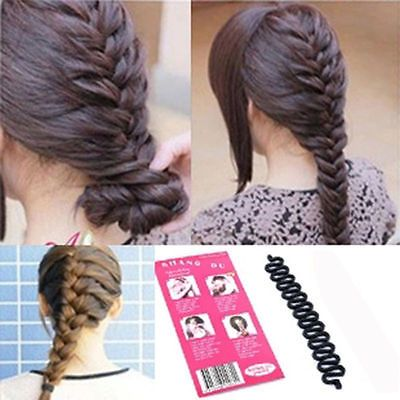 Women Girl Fashion Hair Styling Clip Stick Bun Maker Braid Tool Hair Accessories Bun Maker Hairstyles Braid Tool Hair Accessories Braids