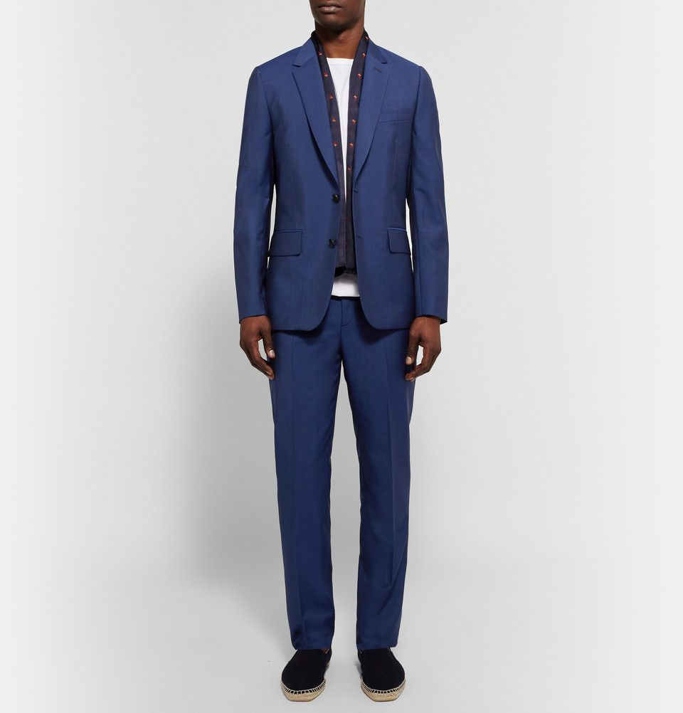 Slim Paul Smith Wool Mohair Soho London Suit And Blend Blue Fit EDYW9H2I