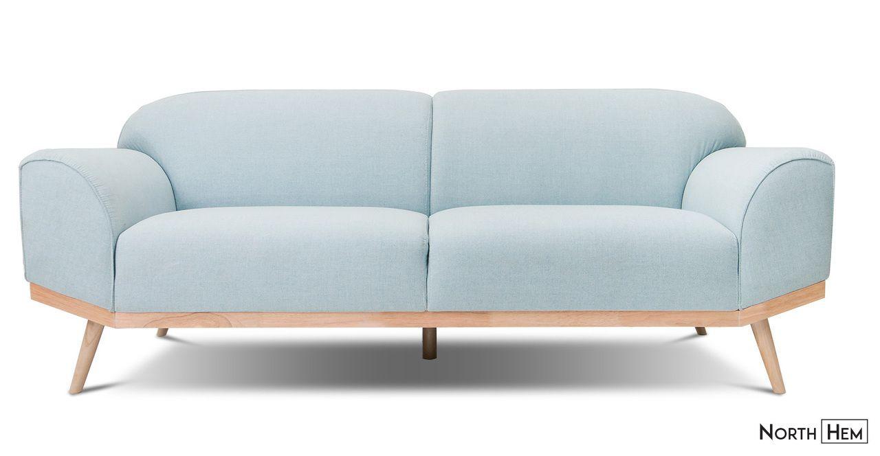 Scandinavian Designer Volt Sofa Pale Blue Scandi Blue Couch Light Blue Sofa Sofa Blue Sofa Set