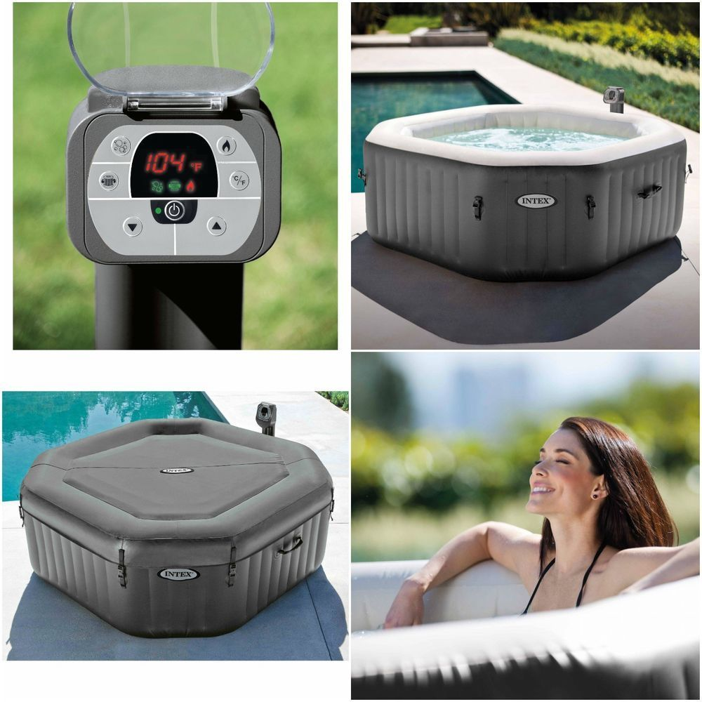 Jacuzzi Spa Hot Tub Portable 4 Person Heated Bath Pool Bubble Jets ...