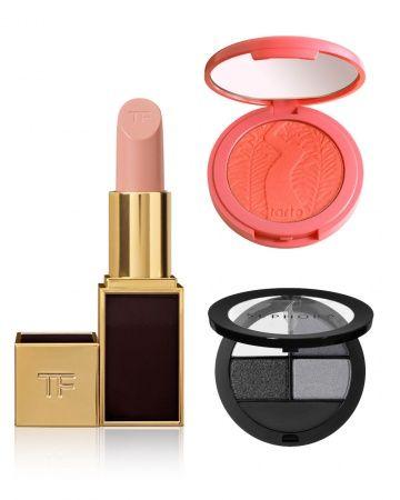 Color Combo We Love: Smoky Gray Eyes + Peach Cheeks + Nude Lips