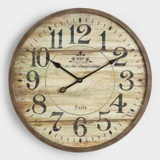 Norah Gray Wash Wood Clock Wood clocks, Clock, Farmhouse