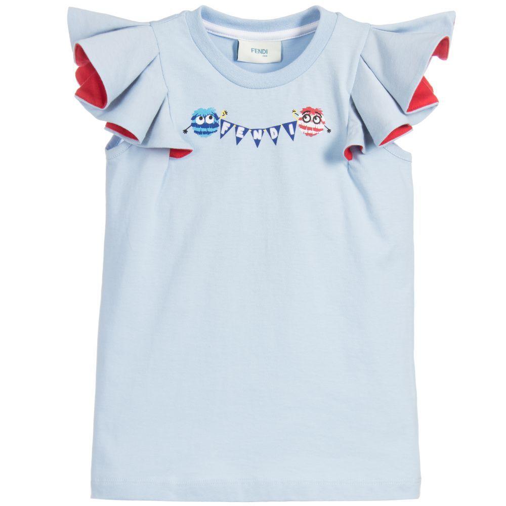 5ef7768797b2 Fendi - Girls Blue Fendirumi T-Shirt