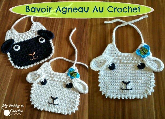 My Hobby Is Crochet: Bavoir Agneau au Crochet - Patron Gratuit ...