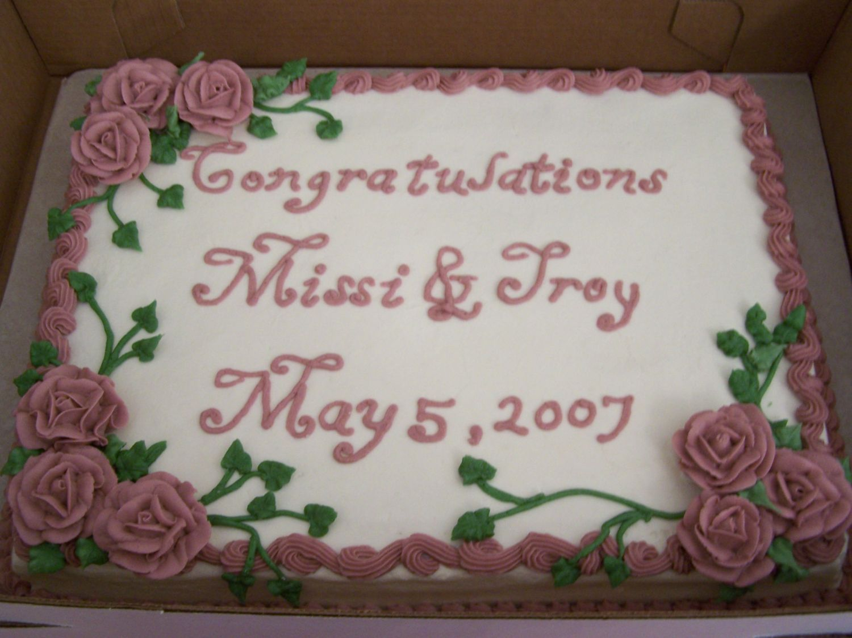 11x15 1 2 Sheet Cake To Go With Wedding Cake 11x15 1 2 Sheet