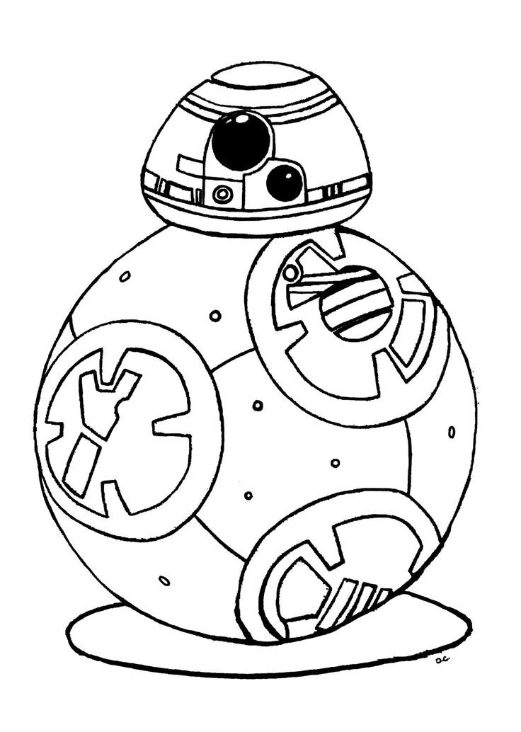 Original coloring inspired by bb 8 droid new character for Star wars bb8 coloring pages