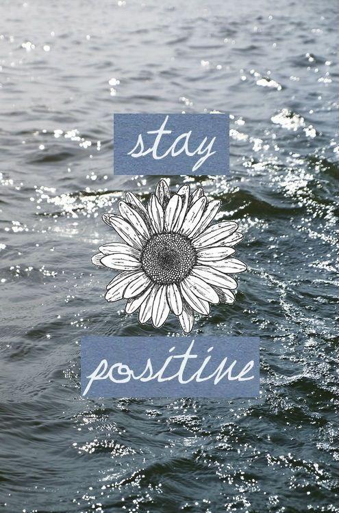Stay Positive Flower Via