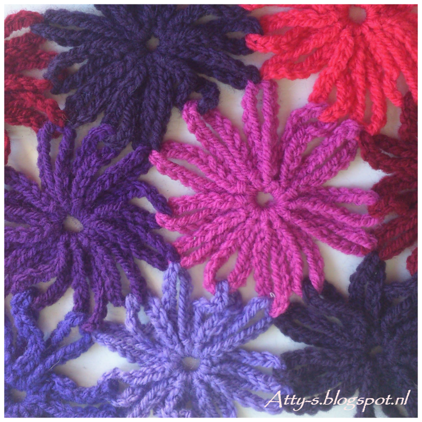 Crochet Flowers www.facebook.com/... | Yarn creations | Pinterest ...
