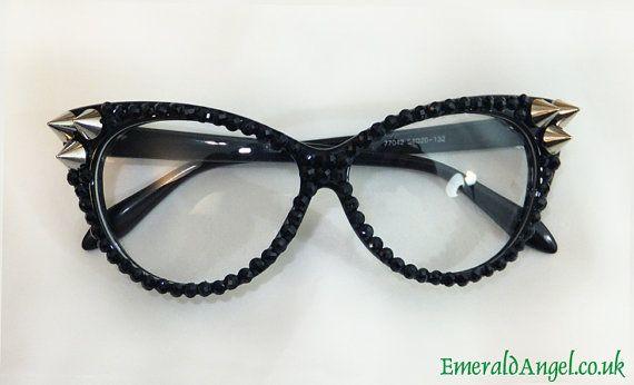 Rhinestones & Spikes Stud Glasses, Sun glasses.
