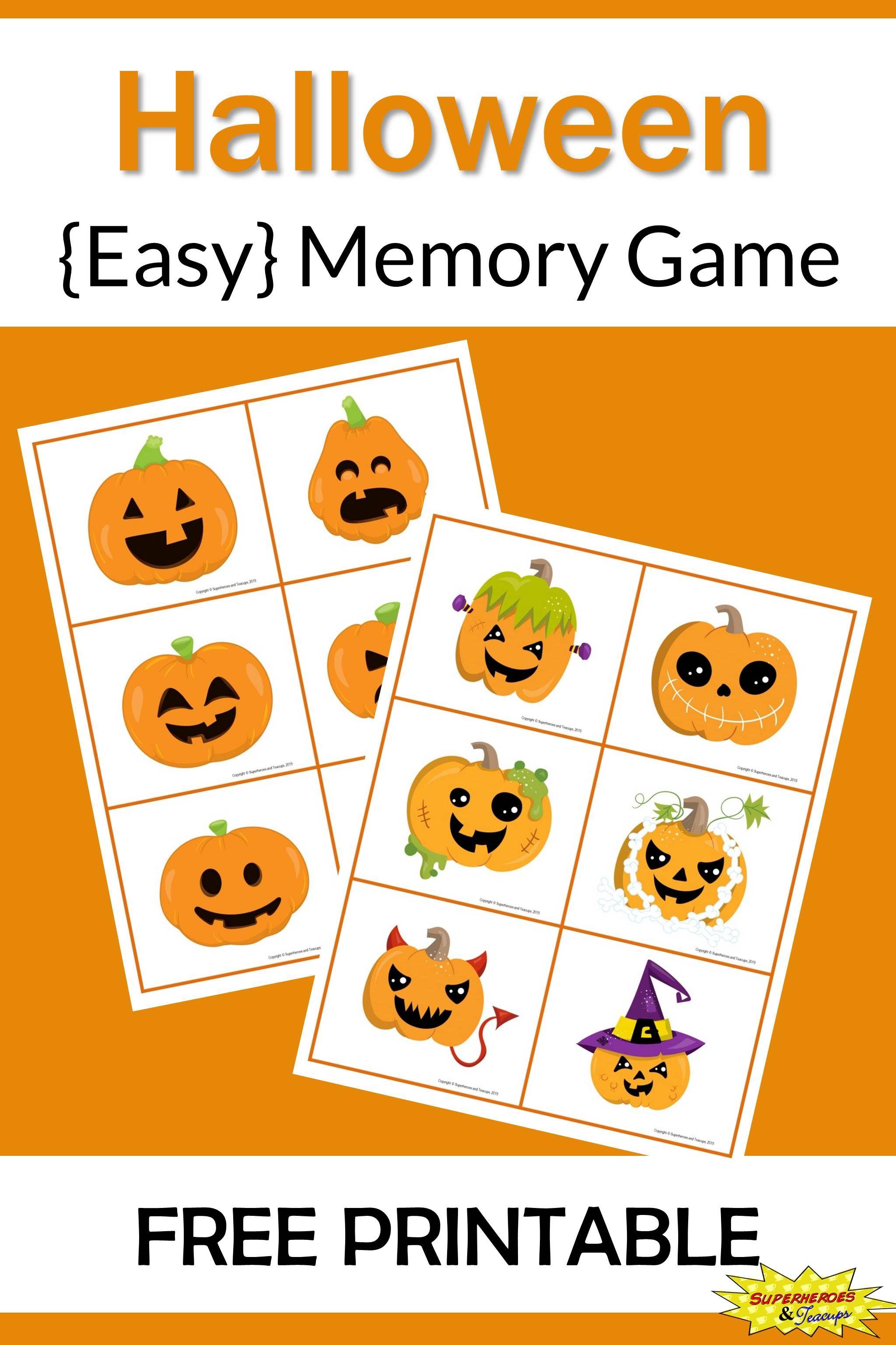 Halloween Memory Game Free Printable Fun printables for