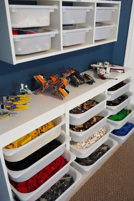 36 Idees Astuces Pour Le Rangement Des Lego Rangement Lego Rangement Chambre Enfant Chambre Lego