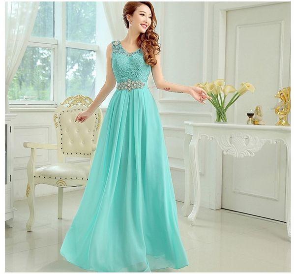 a342aa51e vestidos color aqua largos - Buscar con Google