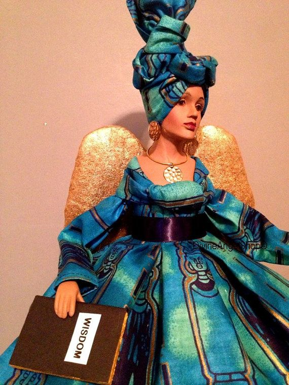 African American Angel Tree Topper Afrocentric by Divineangelshop
