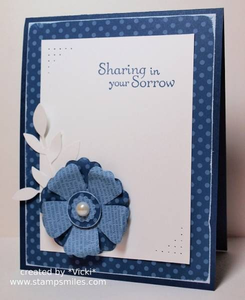 SCS CAS 206   Monochrome Sympathy by basement stamper - Cards and Paper Crafts at Splitcoaststampers