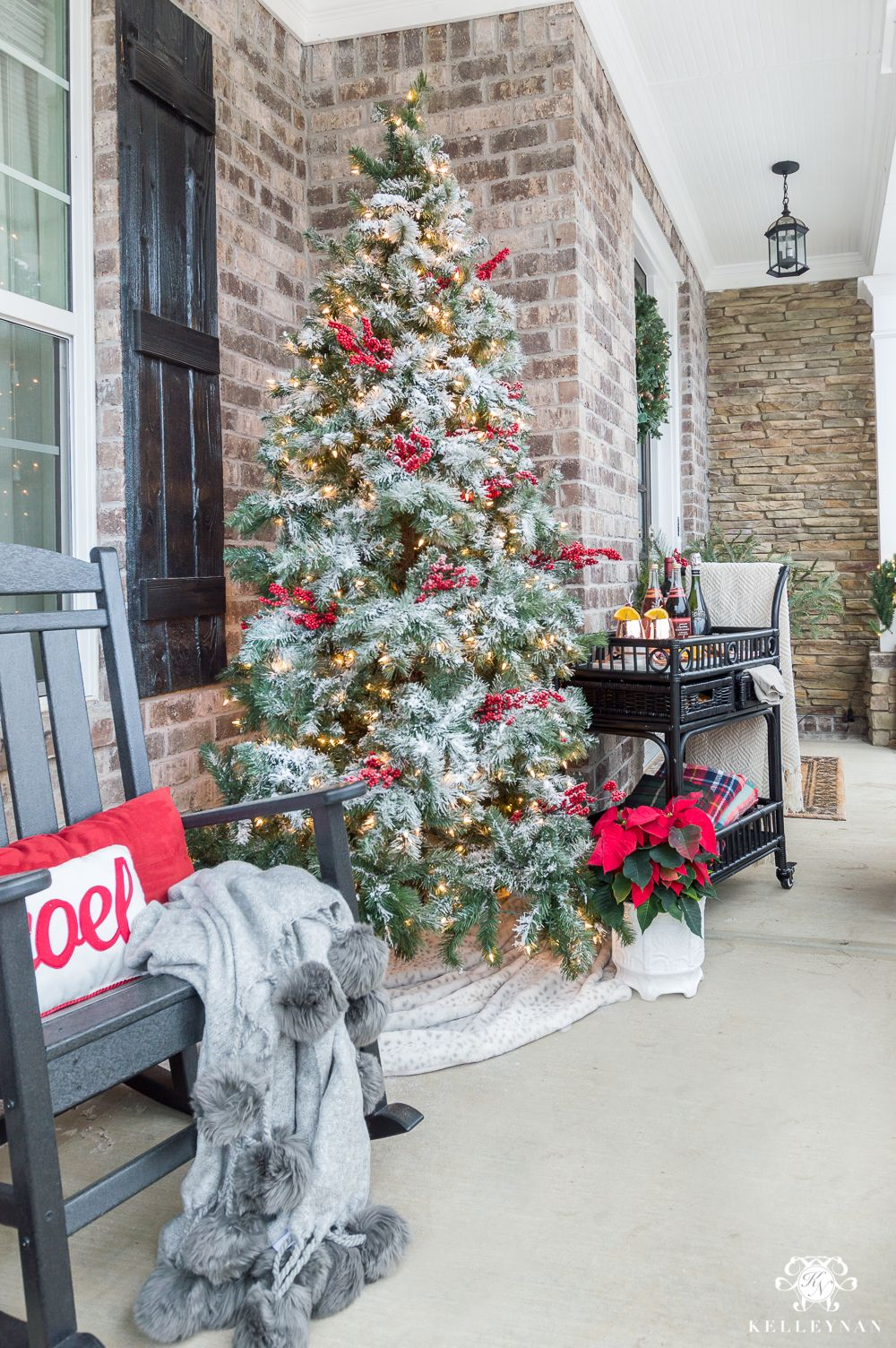 Classic Christmas Decor for a Traditional Front Porch  Kelley Nan