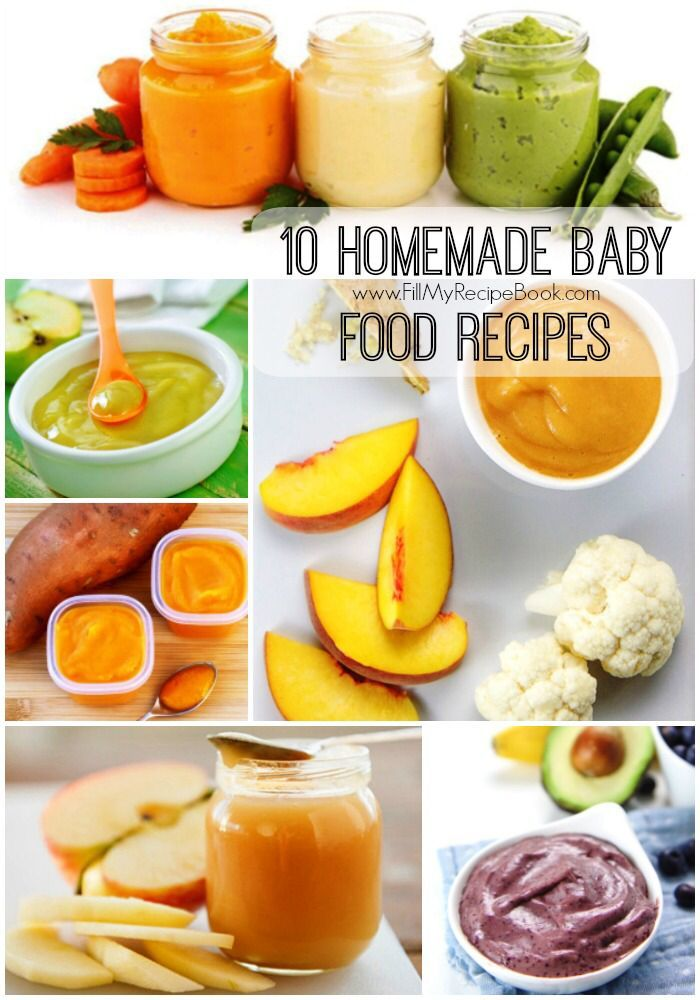 10 Homemade Baby food recipes