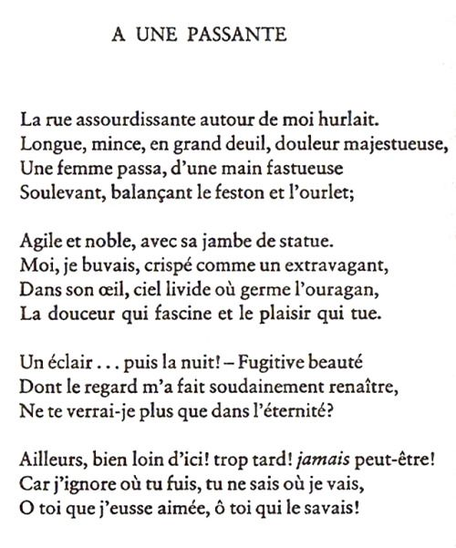 A Une Passanteto A Passer By Charles Baudelaire Around Me