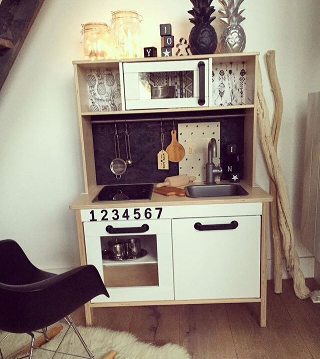 diy cuisine ikea essen und trinken pinterest kinderk che kinderzimmer und essen und trinken. Black Bedroom Furniture Sets. Home Design Ideas