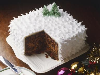 christmas cake is a childood memory getting to decorate the cake with fir trees snowmen and whatever else was a family tradition